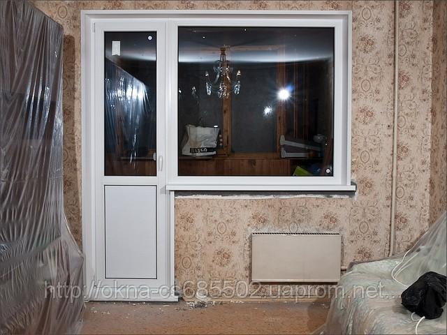 Купить метало пластиковый балконный блок rehau дверь+окно - .